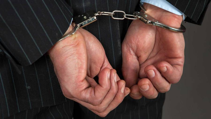 Jason Gouldon Arrested Molester Handcuffs